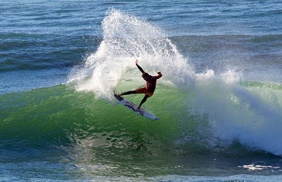 Taj Burrow: great win at Steamer Lane