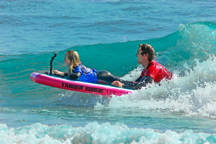 Tandem Boogie: the bodyboard made for two | Photo: Tandem Boogie