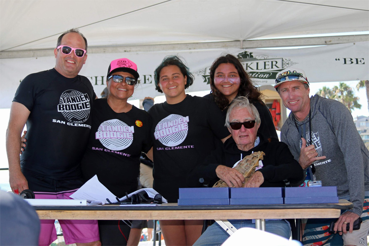 Tom Morey: he loved the tandem boogie board contest | Photo: San Clemente Ocean Festival