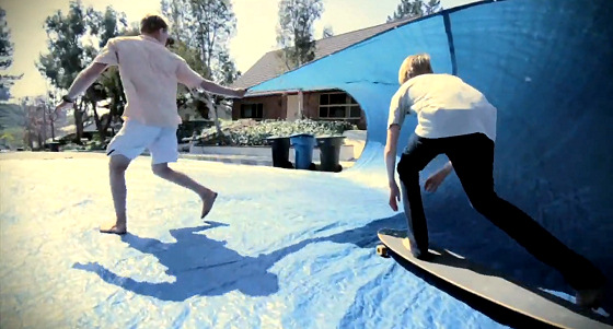 Tarp surfing: the original blue ride