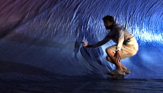 Tarp surfing: night rider