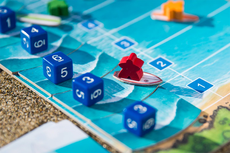 Tavarua: a surfing board game for up to six players