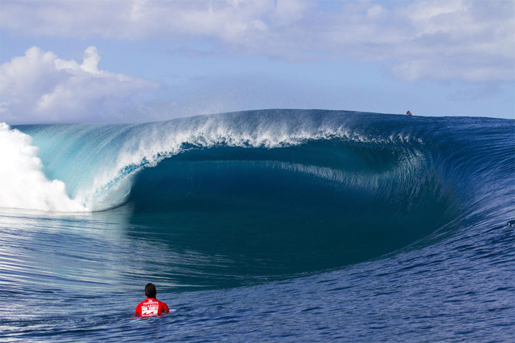 "Teahupoo: the Polynesian word could be translated as ""the hot head"" 