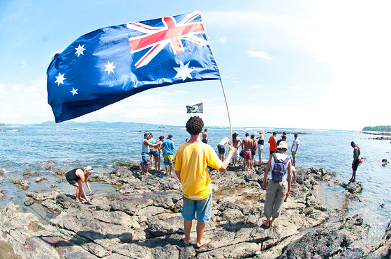Surfing Australia: raising the flag