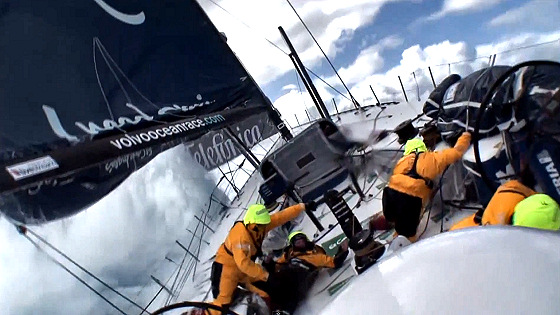 Team Telefonica: yachts are not for surfing