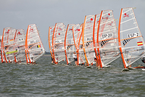 2012 Techno 293 World Championships: sail fight in Medemblik