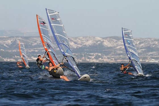 Techno 293 Worlds in Martigues: great sailing conditions