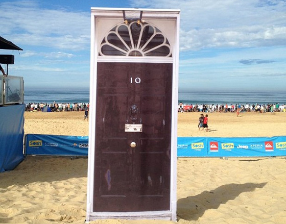 No 10 Downing Street: a door clean beaches