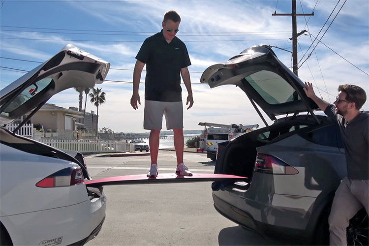 Tesla surfboard: not indestructible