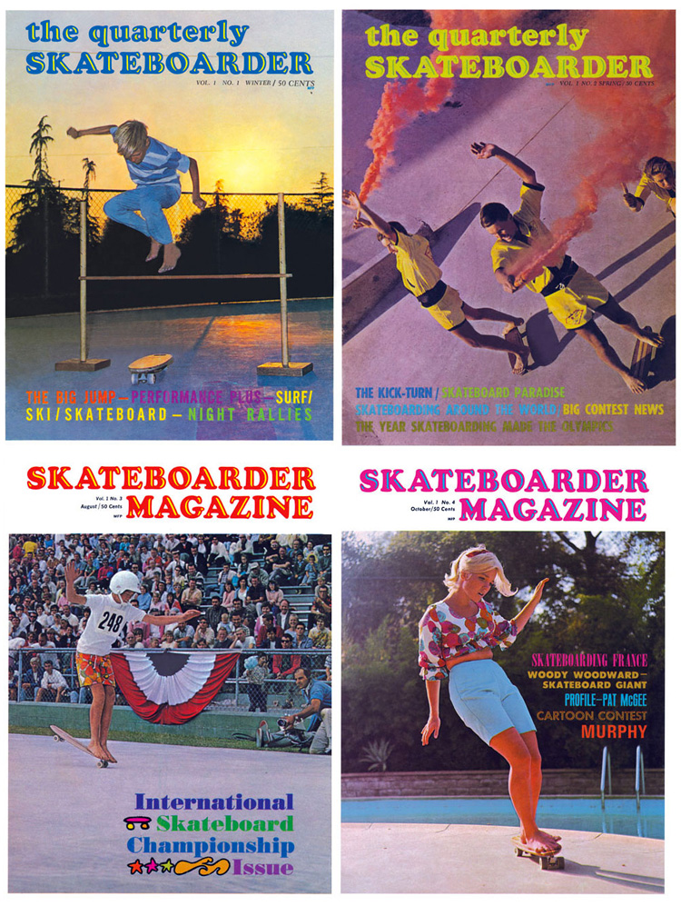 The Quarterly Skateboarder: the world's first skateboard magazine was later renamed Skateboarder Magazine