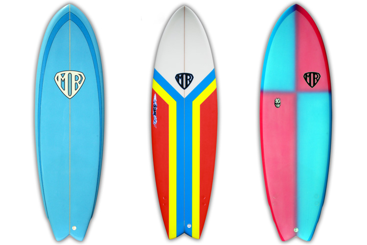 The Fish: a small, wide and fast twin-fin surfboard | Photo: MR Surfboards