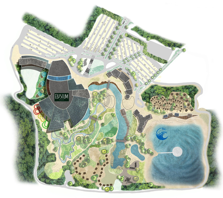 The Lagoon: the surfpool by Surf Lakes will produce 2,400 waves per hour | Illustration: BrightSpace Architects