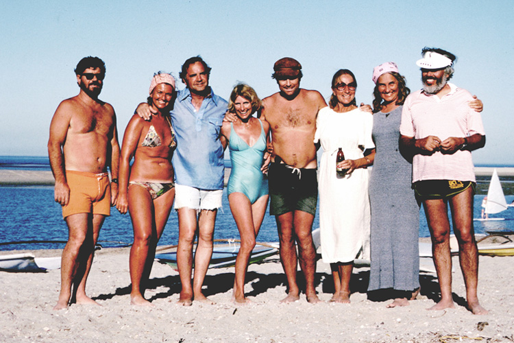 The Original Windsurfer: Hoyle Schweitzer (far left), and Allen Parducci (far right) | Photo: TheOriginalWindsurfer.com