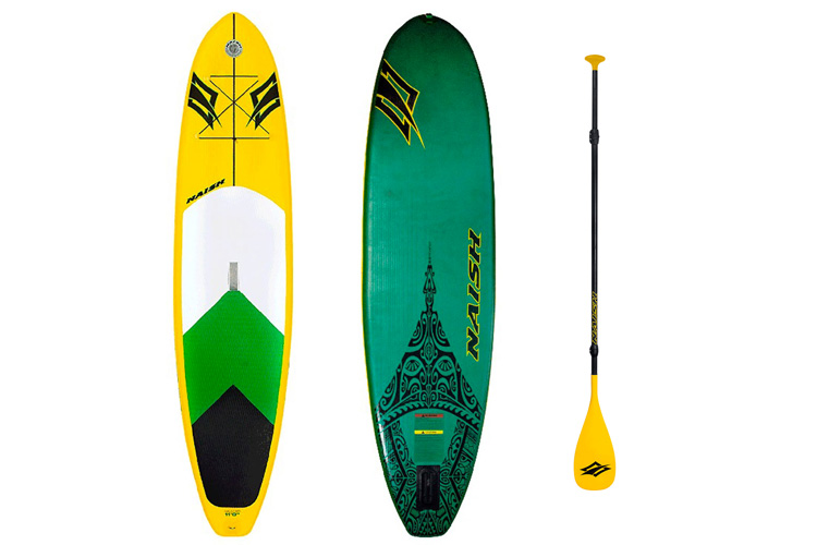 The Stand-Up Paddleboard (SUP): a long surfboard and paddle | Photo: Naish