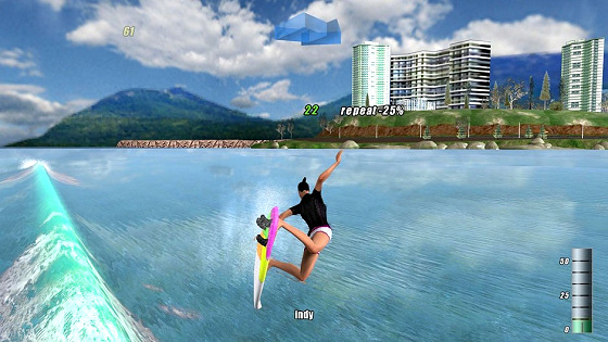 The Surfer: arcade PC surfing game