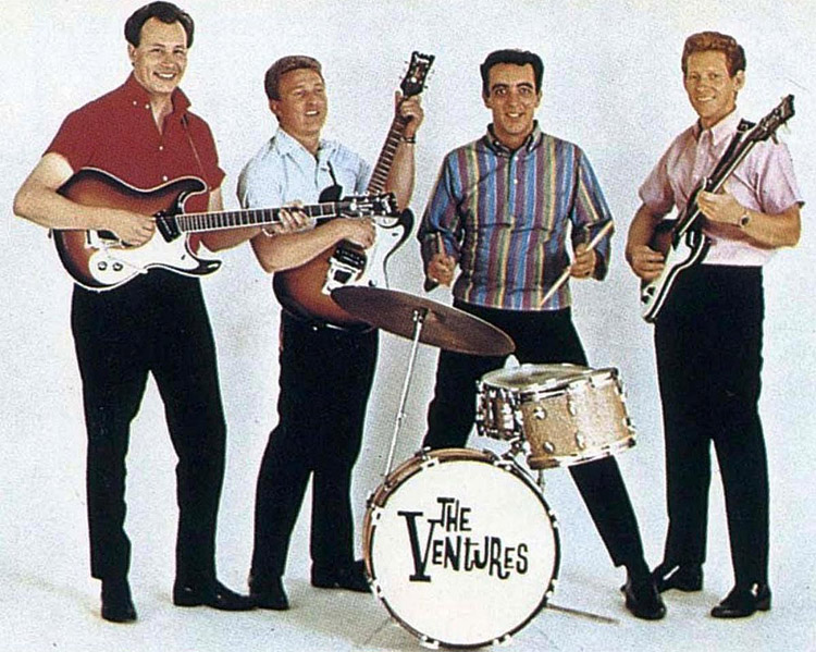 The Ventures: a surf music band formed in 1958