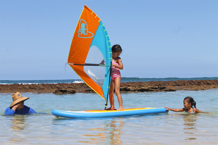 The Whipper: the windsurfing rig for kids aged 3-6 | Photo: WhipperKids
