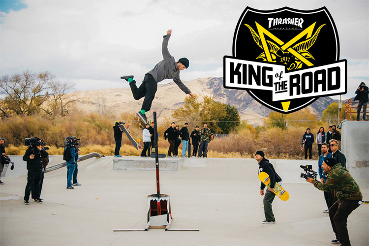 King of the Road: the skateboard contest series run by Thrasher