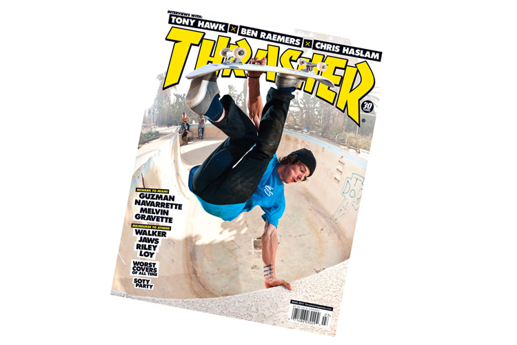 Thrasher: the skateboard magazine founded in 1981 by Eric Swenson and Fausto Vitello