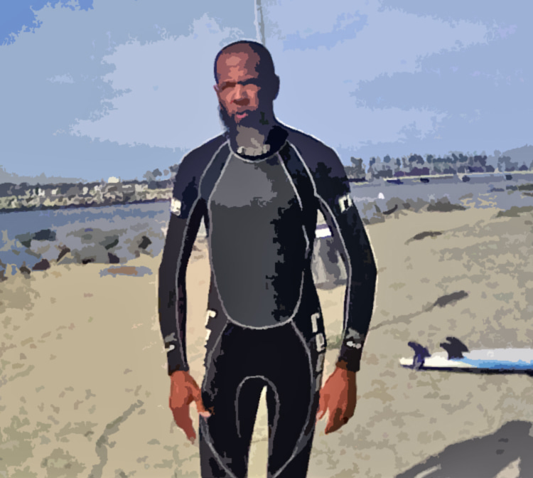 Thurston Sawyer II: he presents himself as the world's first professional black surfer
