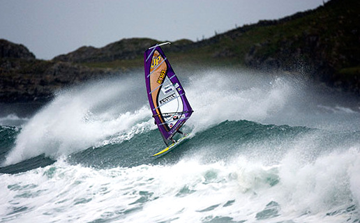 Powerful winds expect top windsurfers in the 2009 Tiree Wave Classic