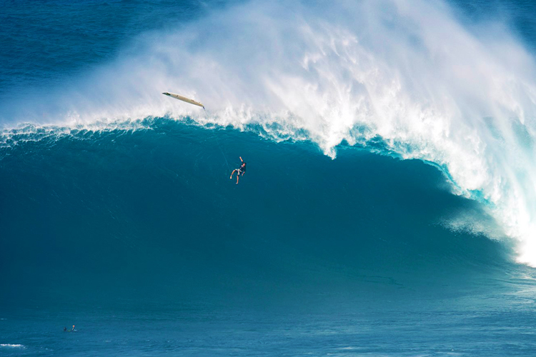 Tom Dosland at Jaws: the wipeout that shocked the world | Photo: Chris Egan/WSL