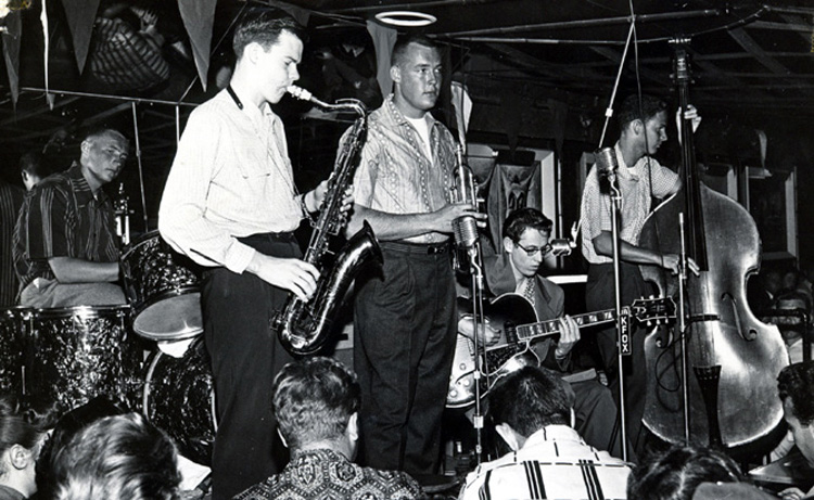 Tom Morey (drums): playing with Lin Halliday and friends, circa 1955 | Photo: Tom Morey