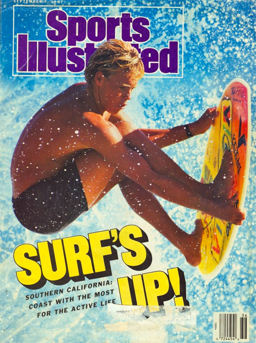 Tom Trager: on the cover of Sports Illustrated, in September 1987 | Photo: Victoria Skimboards