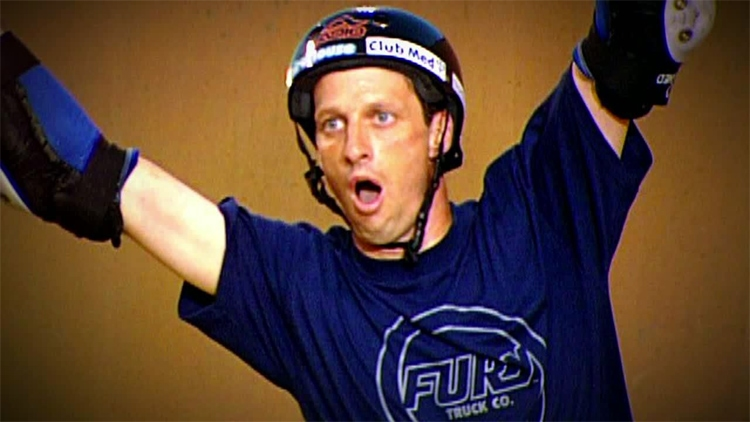 Tony Hawk: he landed the world's first 900 at the 1999 X Games | Still: ESPN