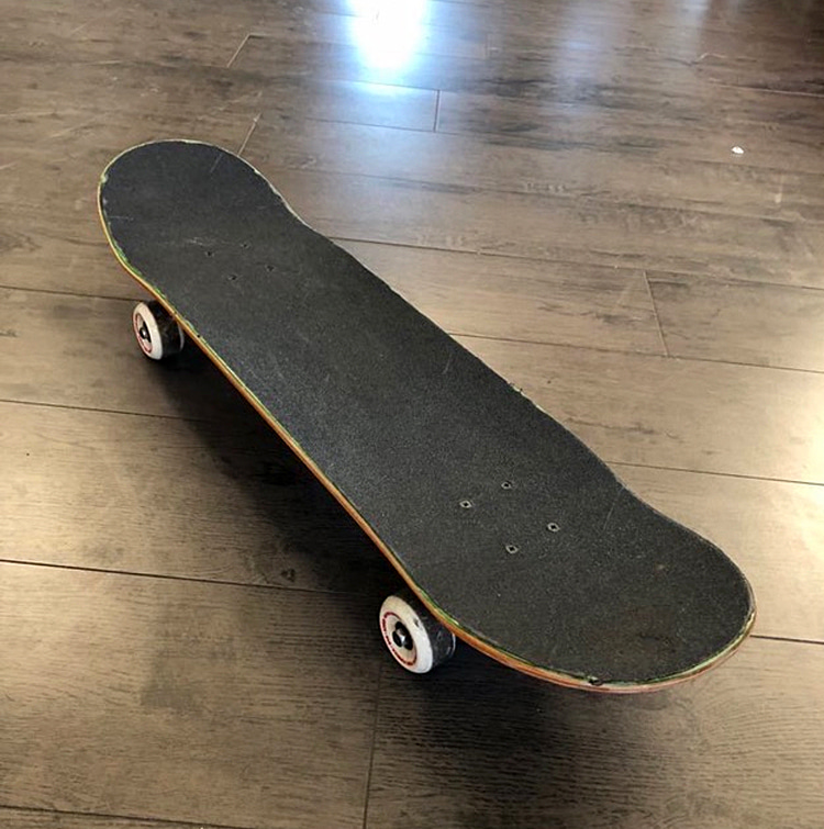 Tony Hawk's skateboard: this picture helped design the world's first skateboard emoji | Photo: Tony Hawk