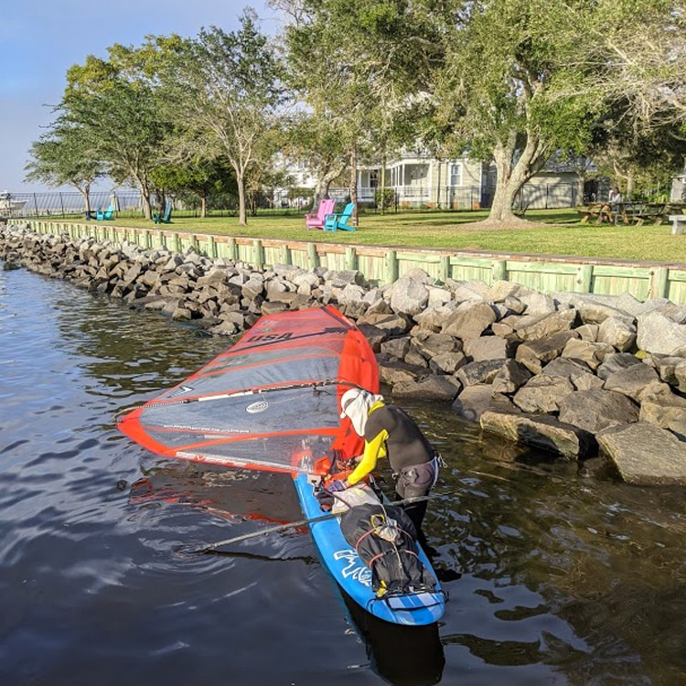 2020 WaterTribe North Carolina Challenge: Tony Vandenberg gets his gear ready for the journey | Photo: Vandenberg
