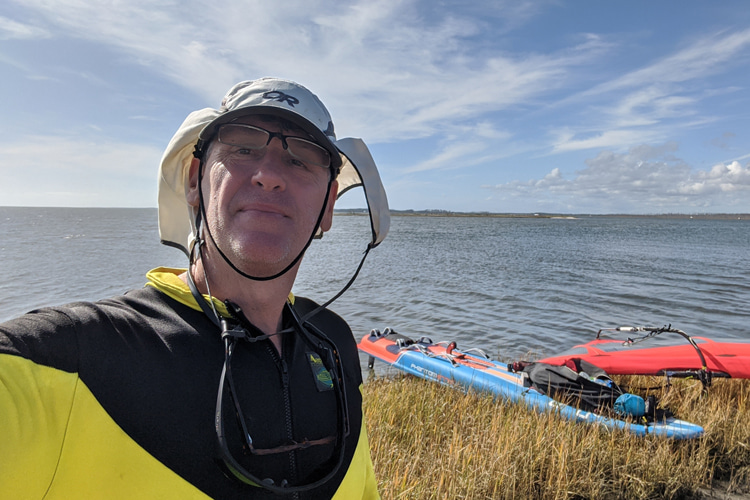 Tony Vandenberg: a selfie before his WaterTribe North Carolina Challenge redemption | Photo: Vandenberg