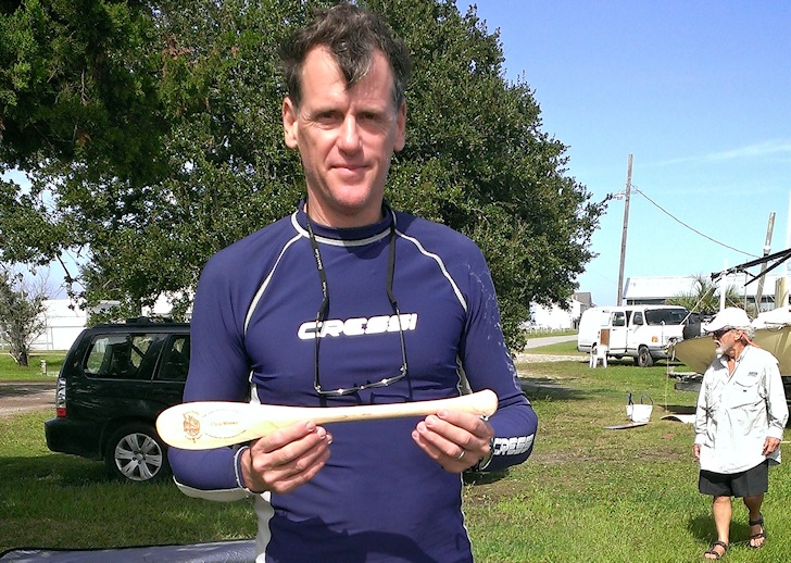 Tony Vandenberg is the first windsurfer to complete the North Carolina Challenge
