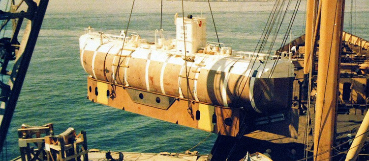 Bathyscaphe Trieste: the first manned sub to reach Challenger Deep | Photo: Creative Commons