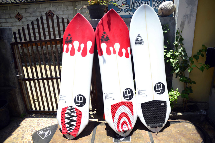 Trinity Surfboards: the side cut formula changes the template dramatically | Photo: Trinity