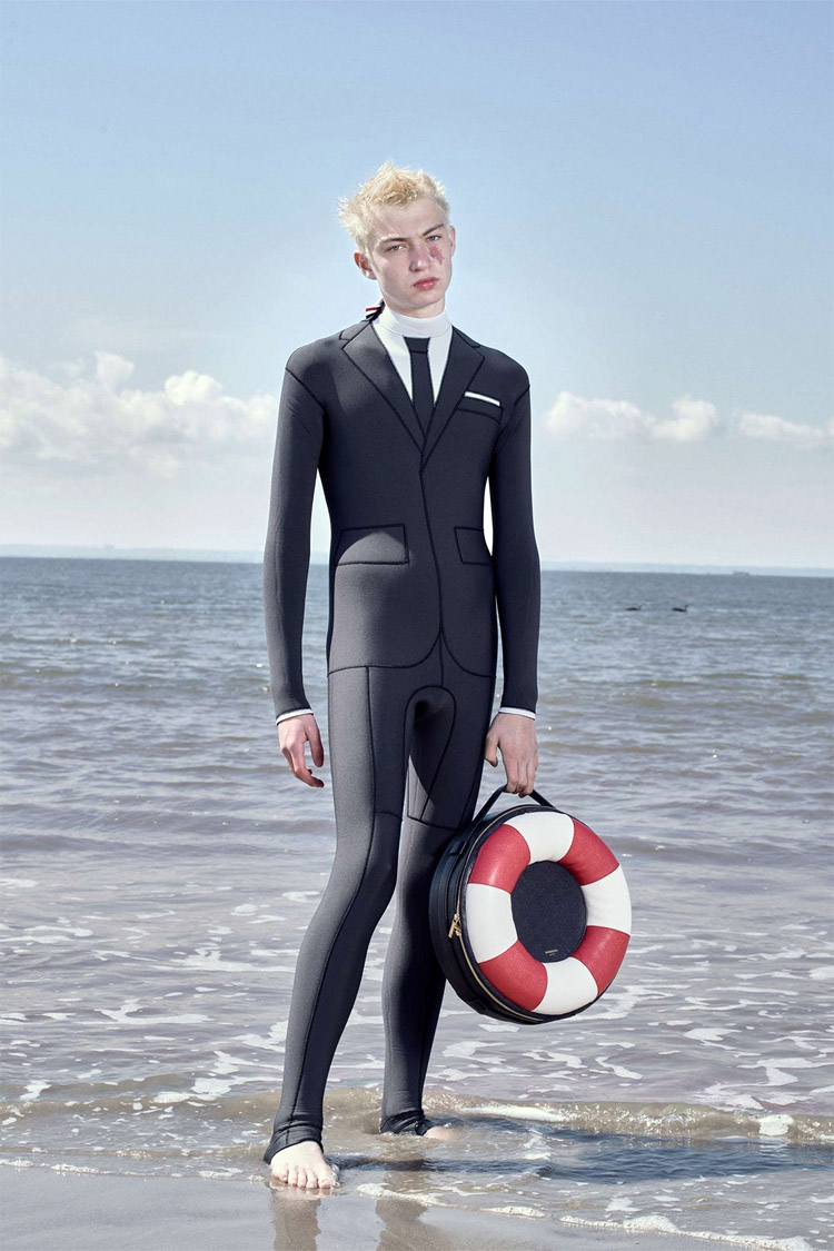Trompe L'Oeil Technical Wetsuit: design by Thom Browne | Photo: Wayne Lawrence