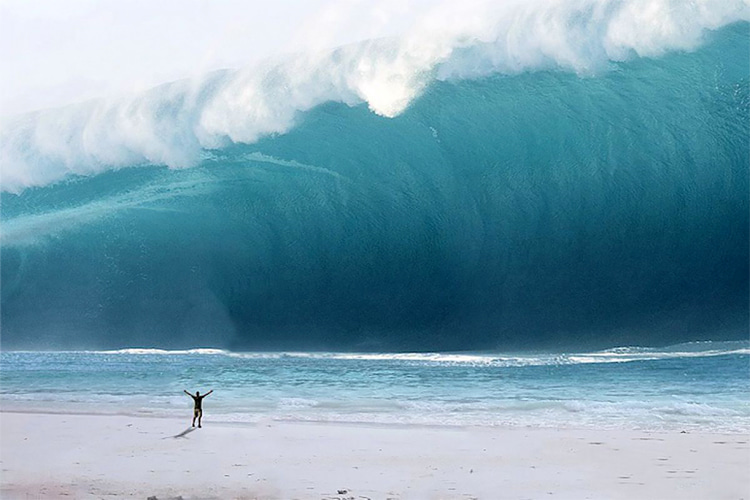 Tsunami: a sneaky, powerful, fast, large and highly destructive wave generated by earthquakes