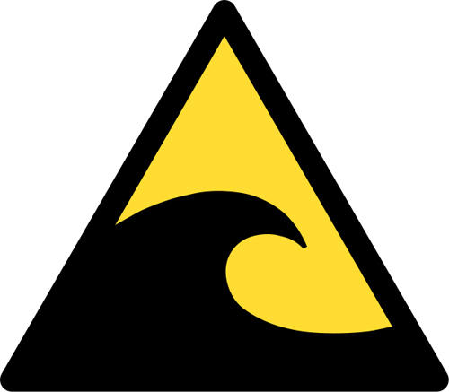 Tsunami: the official warning sign
