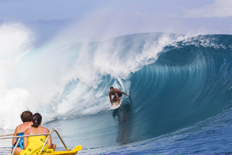 Tyson Williams: surfboards were no problem for him | Photo: Bielmann