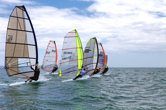 Rob Kent, Marc Carney, Mark Kay and Dave Hackford will teach windsurfing techniques