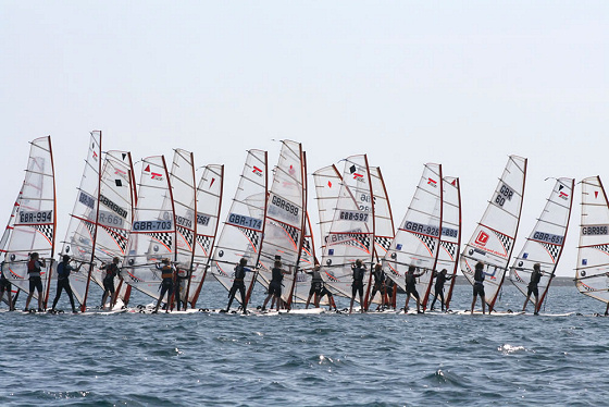 More than 120 windsurfers race the 2009 UKWA Cup in Weymouth