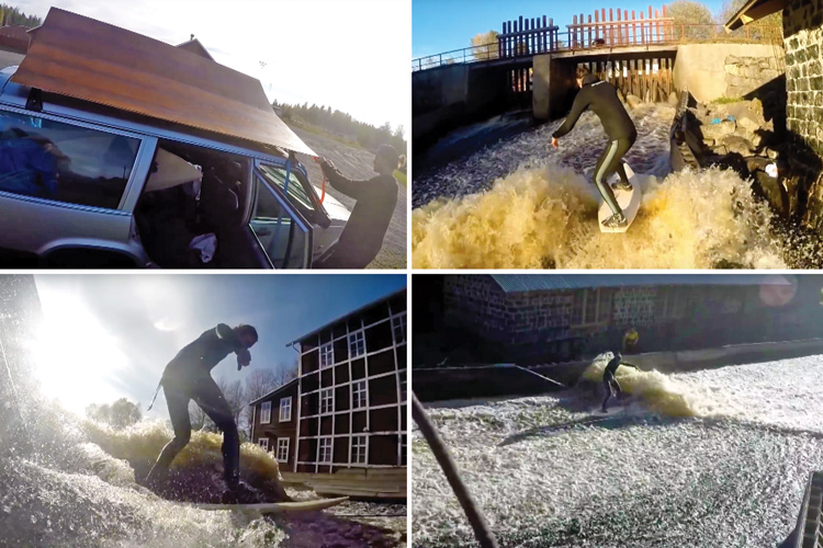 Sweden: Daniel, David and Alex build their private surfable river wave