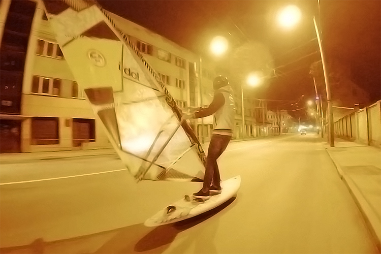 Kaunas, Lithuania: the birthplace of downhill street windsurfing