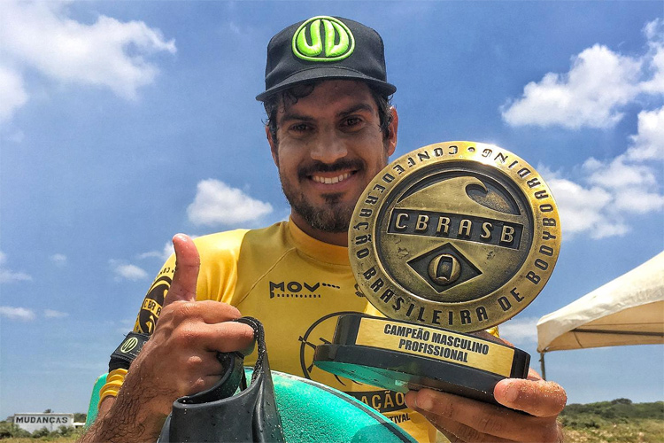 Uri Valadão: he has five Brazilian bodyboarding titles under his belt | Photo: Lara/CBRASB