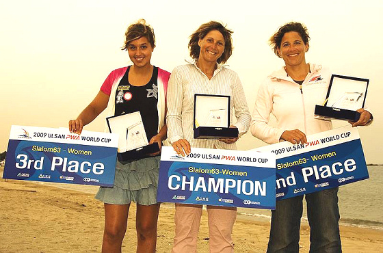 Valérie Ghibaudo leads the 2009 PWA Women's World Tour