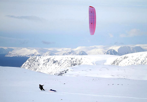 Vake: when snow kiteboarding gets cool