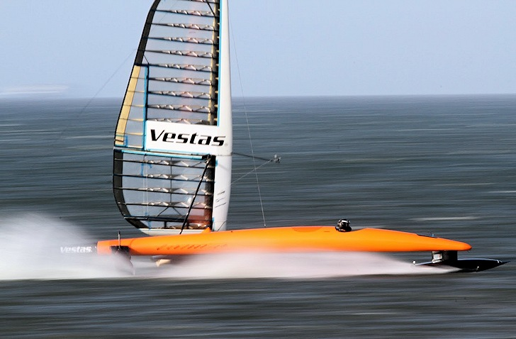 Vestas Sailrocket 2: hitting 65.45 knots