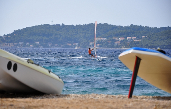 Viganj: windsurfing in Croatia
