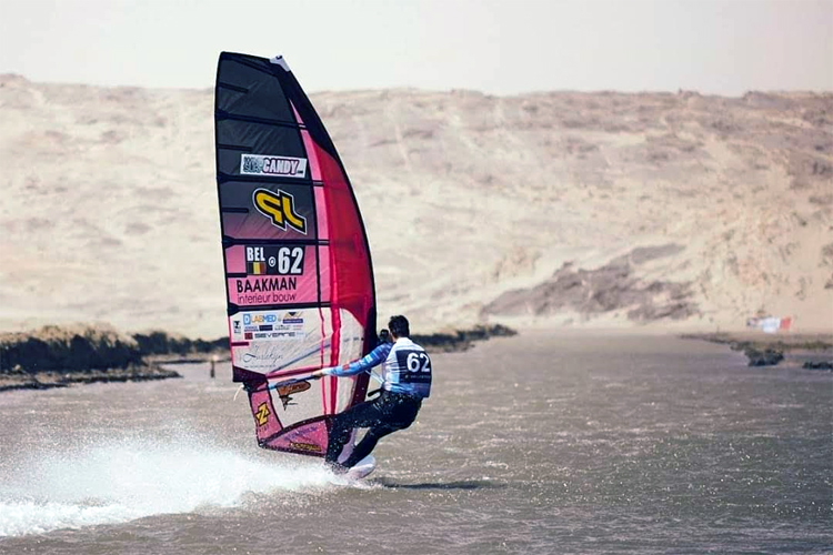 Vincent Valkenaers: the Belgian nearly set a new windsurfing speed world record in Luderitz | Photo: Valkenaers Archive