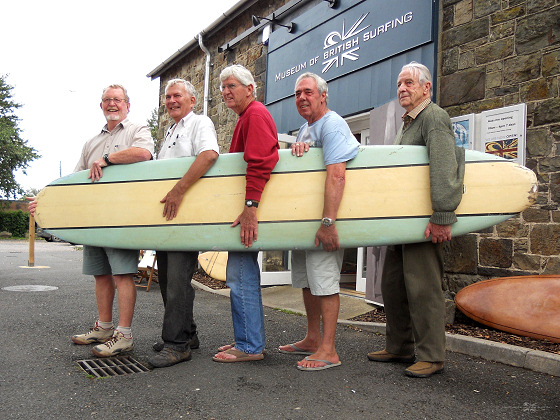 Vintage Surf Meet: Alan Kift, Tony Cope, Bing Copeland, Alan Brooks and Bob Powers